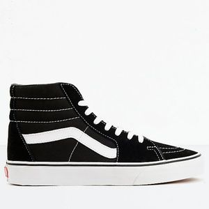 Vans Sk8-Hi Black & White Skate Shoes Men's Sz 8.5